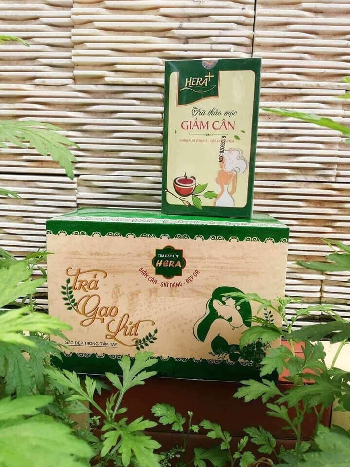 Phân biệt giữa trà giảm cân Hera Plus và Trà gạo lứt giảm cân